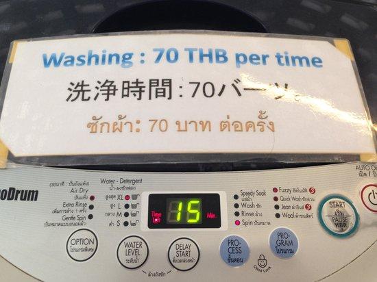Admiral Premier Bangkok by Compass Hospitality : 洗濯機1回70B