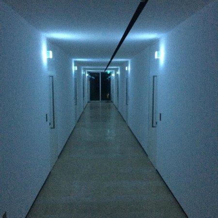 C-Hotel & SPA: il corridoio del primo piano, mette un po' di inquietudine la sera