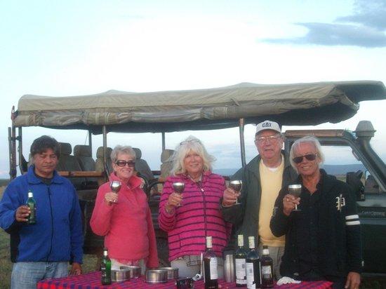 Encounter Mara, Asilia Africa: drinks at 6.30
