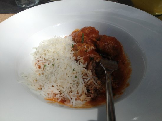 Naia: rice with meat ball