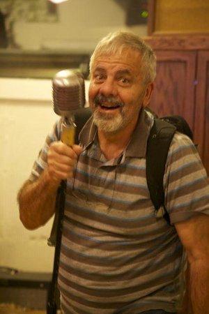 Sun Studio: Me holding the hallowed microphone