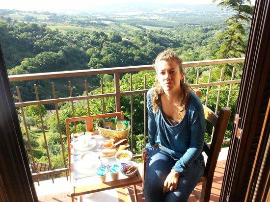 B&B Relais nel Borgo: Colazione in terrazza. Cam 2