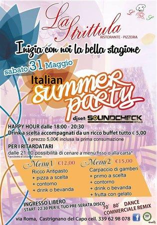 """Ristorante Pizzeria La Strittula: 31 Maggio 2014 - """"Italian Summer Party"""" La Strittula"""