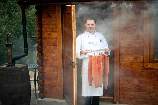 The Wild Boar: Onsite smokehouse for the restaurant