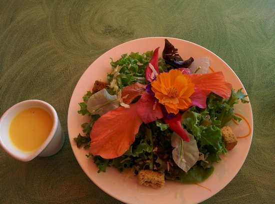 The Buzzz Cafe: Organic Salad with Edible Flowers