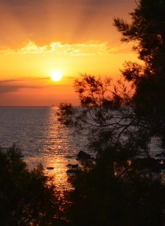 Nefeli Sunset Studios: sunset from the balcony