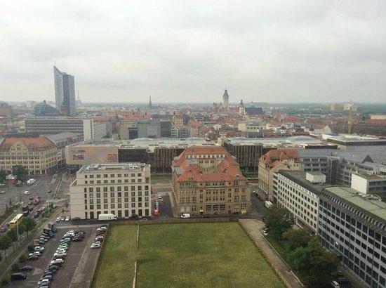 The Westin Leipzig: вид на город с 20 этажа