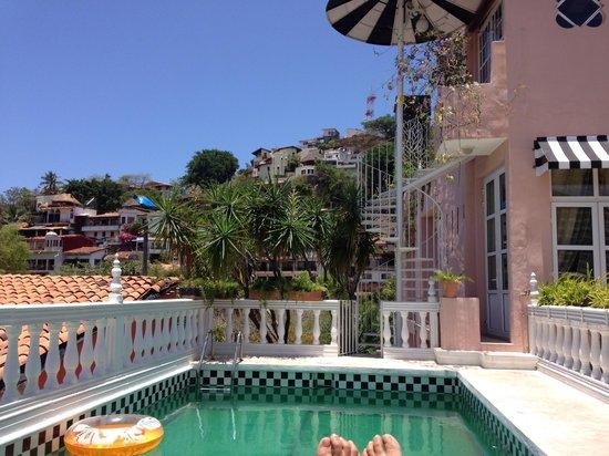 Rivera del Rio Boutique Hotel: Pool view