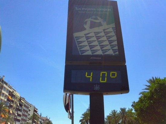 Tryp Cordoba: Temperatura a mediodía