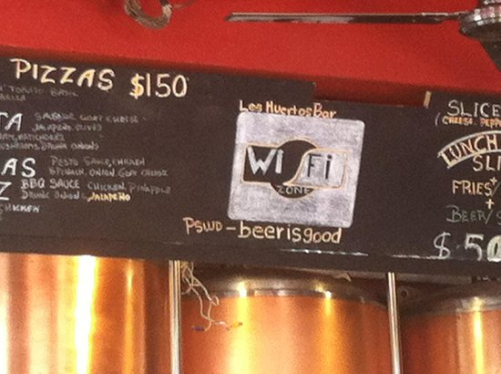 Los Muertos Brewing: Menu board