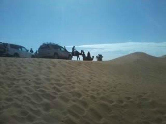 Bivouac Razgui Sahara: fin de Balade dos dromadaires