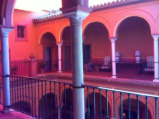 Casa Palacio de Carmona: View from the second floor room entrance.