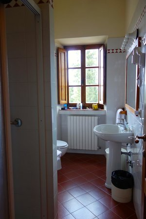 Relais Vignale: Bathroom- pretty basic