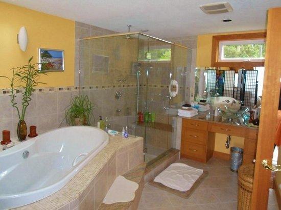 Bella's Beachfront B&B: The beautiful spa/bathroom