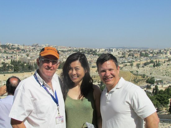 Israel Private Tours: Moti and us at Masada