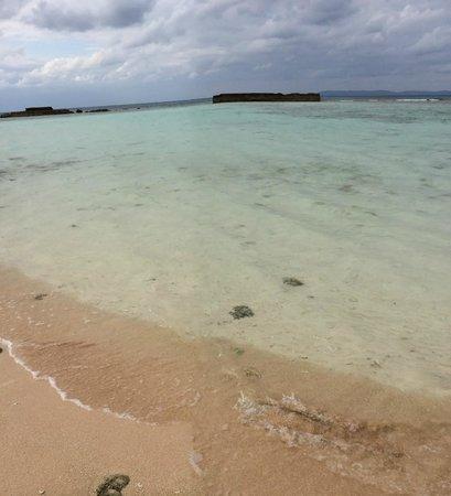Nishihama Beach: 透明度の高い海