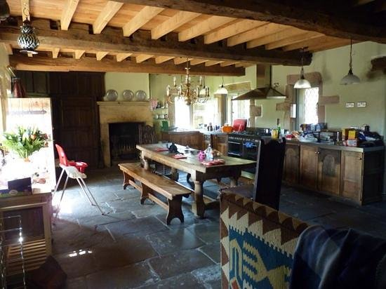 Harthill Hall Holiday Cottages: the kitchen inside The Manor House
