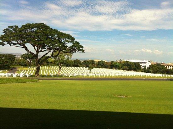 Manila American Cemetery and Memorial (Amerikanischer Soldatenfriedhof und Gedänkstätte): view of cemetery