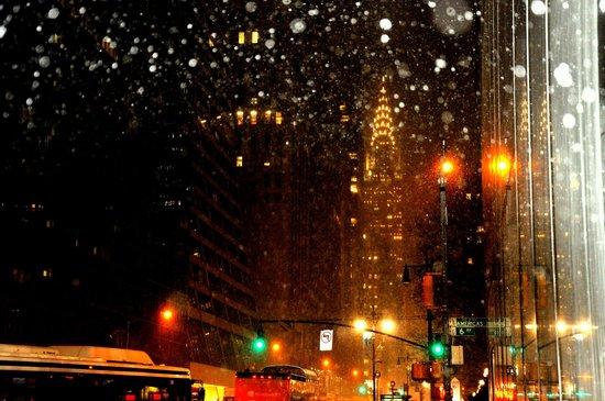 Chrysler Building : de noche iluminado
