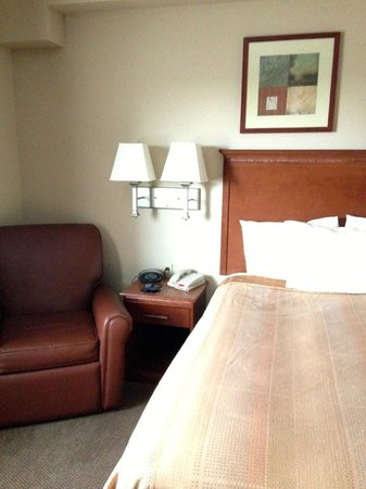 Candlewood Suites Hazleton : Nice lazyboy and comfortable little bed