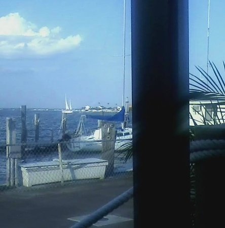 Buona Pizza: View of the bay from the back outside dining area