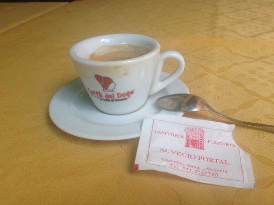 Al Vecio Portal: Finalmente un buon caffè