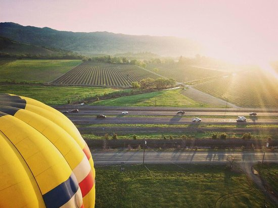 Balloons Above the Valley: My friend's shot of the other balloon from ours!