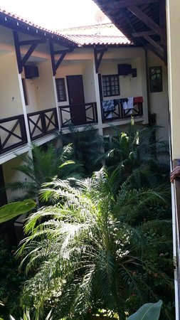 Yes Hotel Pousada: Look out the veranda to the lush interior.