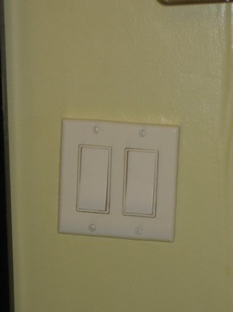 Astor on the Park: the light switch - set in the wall at an angle