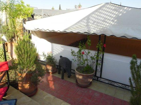 Riad Villa El Arsa: toit couvert