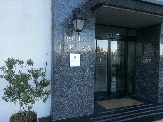 Entrance in Hotel Fortina