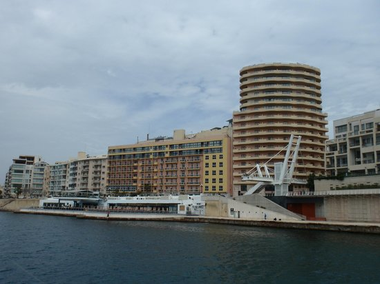 View to Hotel Fortina from sea