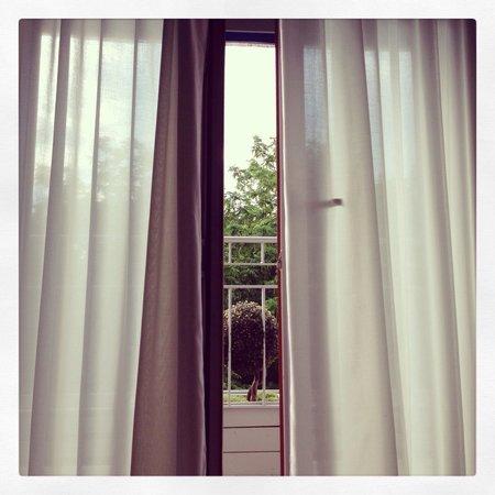 Hotel Manin: Вид из номера на сад