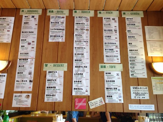 Kuishimbo: Wall menu