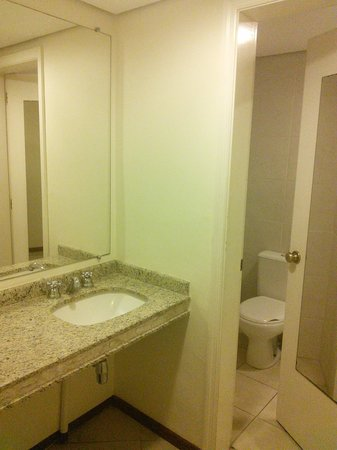 Hotel Panamby Guarulhos: Bathroom and shower
