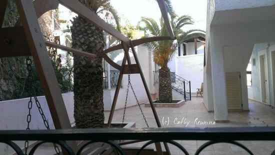 Hotel Glaros: Vu de notre balcon