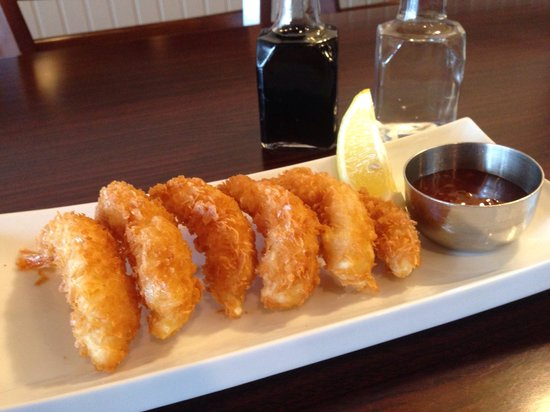 Chung's Fish & Chips: Prawns and sweet chilly sauce
