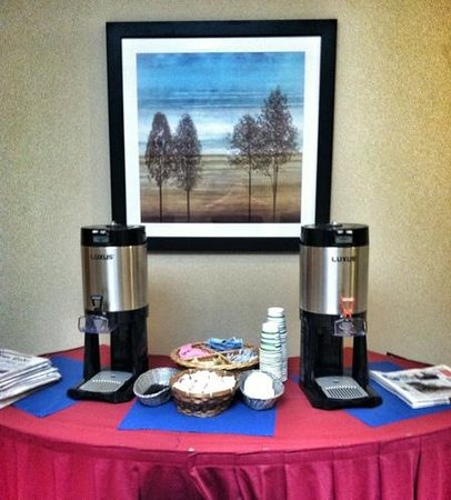 Holiday Inn Staunton Conference Center: my favorite place the complementary coffee near the elevators. A morning routine