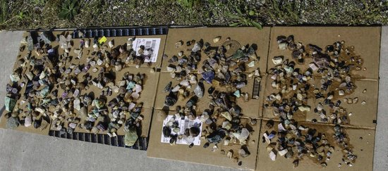 Gem Mountain: Stones from two $55 mixed buckets plus one $25 topaz bucket