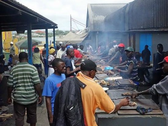 Katutura Township: Grilling meat - Namibians love their meat