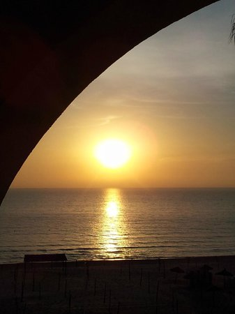 Marhaba Beach Hotel: Sunrise from Room 205 (Best room in the hotel)
