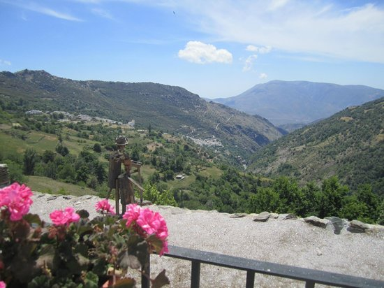 Las Alpujarras: A view valley down to Pampeneira