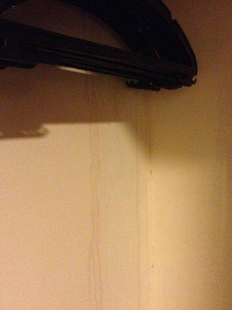 Metropolitan Hotel: Потеки на стенах в шкафу