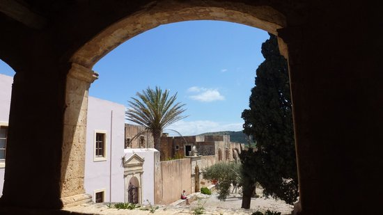 Sacred Monastery of Arkadi: the courtyard