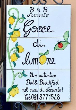 Gocce di Limone B&B Sorrento: B&B Sinage by the gate