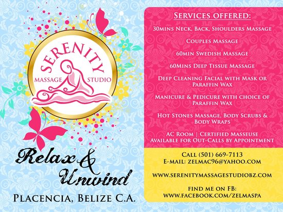 Serenity Massage Studio : Services Offered