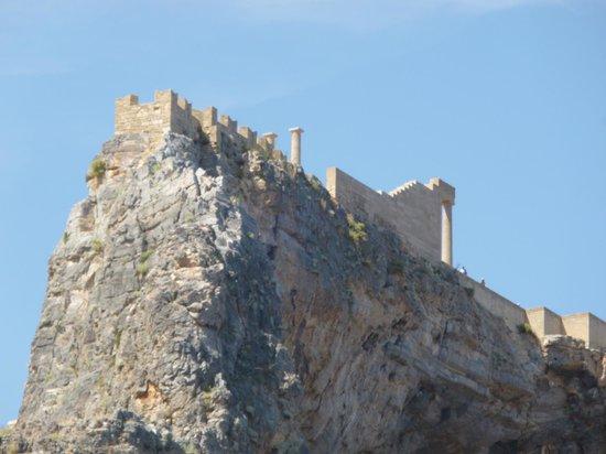 Sheraton Rhodes Resort : ACROPOLIS LINDOS FROM SEA