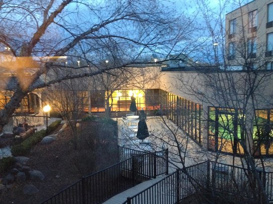 Courtyard Ann Arbor: View from room (Evening)