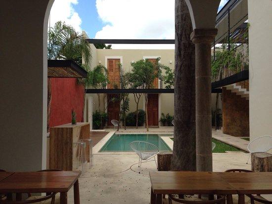 Koox Casa de las Palomas Boutique Hotel : Vista desde el comedor