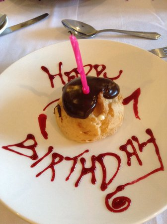 BEST WESTERN Garstang Country Hotel and Golf Centre: Amazing what the chef Alan did for my birthday.